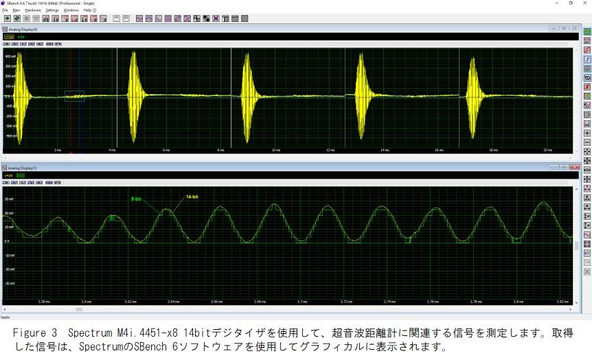 超音波距離計の信号測定