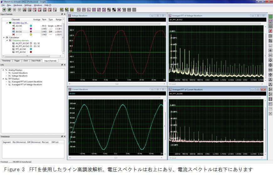 FFTを使用したライン高調波解析